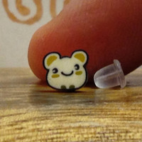 Hamster Hamtaro Gerbil.  Surgical Steel Stud Earring. Perfect for Helix and Cartilage Piercings.