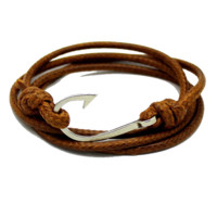 TWO FREE UNISEX FISH HOOK BRACELETS