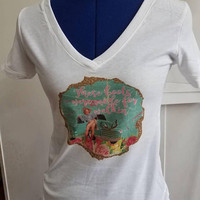 Country - Pinup - girl - cowgirl - vintage - truck - boots - pin - up - girl - ladies - t - shirt- v - neck - short - sleeve - pinup - shirt