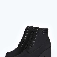 Suki Lace Up Cleated Hiker Boot