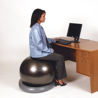 FitBALL Exercise Ball Holder at Brookstone—Buy Now!
