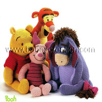 SAVE USD19.00 Now! Set of Pattern Winnie the Pooh and Friends & Looney Tunes Bugs Bunny and Pal Amigurumi Pattern: INSTANT DOWNLOAD