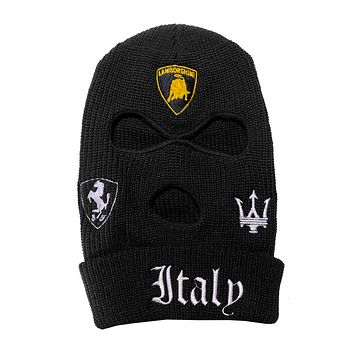 """ITALY"" Embroidered Ski Mask (VARIOUS COLORS)"