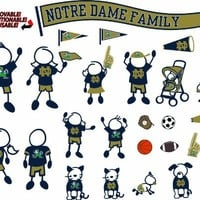 NCAA Notre Dame Fighting Irish Decal Family