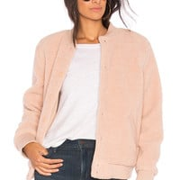 The Fifth Label Jamie Bomber Jacket in Dusty Blush