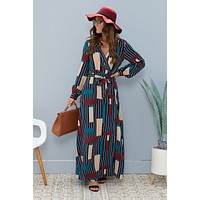 Aim To Please Maxi Dress (Navy)