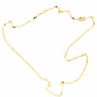 3mm Anchor 18kts Gold Plated Chain
