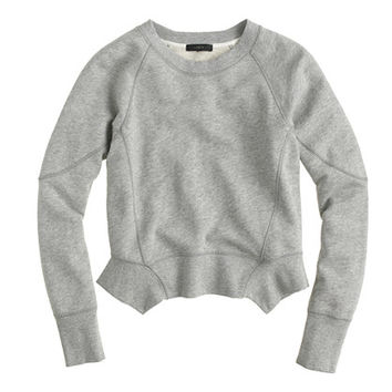 J.Crew Womens Seamed Peplum Sweatshirt