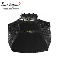 Burvogue  Plus Size No Sleeve Gothic Steampunk Corset Steampunk Top Waist Trainer Gothic Corset Top for Women Slimming Corselet