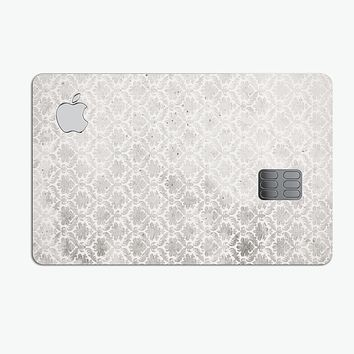 Micro Faded Black and White Damask Pattern - Premium Protective Decal Skin-Kit for the Apple Credit Card