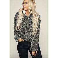 Crushing On You Pullover Jacket (Grey)