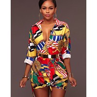 Versace Fashion Printed Dresses Explosive Women's Shirts