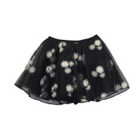 Daisy flare mini skirt