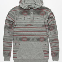 Shouthouse Horizon Boys Lightweight Henley Hoodie Grey  In Sizes