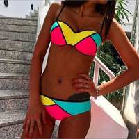 Latest Women Fashion Sexy Colorful 2 Piece Bikini Swimsuits = 1956519940