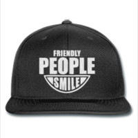 FRIENDLY PEOPLE SMILE EMBROIDERY HAT  - Snapback Hat