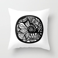 Tribal Original Abstract Illustration Throw Pillow by Pom Graphic Design  | Society6