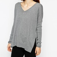 ASOS Tall V-neck Sweater With Side Splits