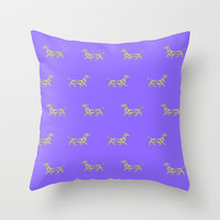 Bright and colorful Dachshund Swirl Print Pillow Covers. Come in a rainbow of colors, or choose your own custom colors. Bright, Neon Pillow