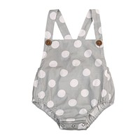 Cute Rompers Infant Baby Girl Polka Dot Cotton Romper Jumpsuit Outfit Sunsuit Clothes