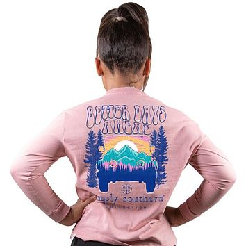 Simply Southern Better Days Jeep Mountains Long Sleeve T-Shirt