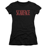 SCARFACE/LOGO-S/S JUNIOR SHEER-BLACK