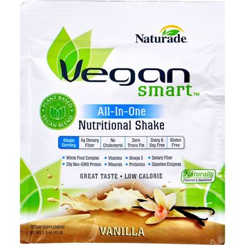 Naturade Vegansmart All-in-one Nutritional Shake - Vanilla - 1.51 Oz - Case Of 12