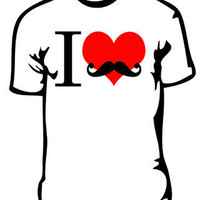 Product - I heart Mustache's by Tick Of The Clock Clothing · Storenvy