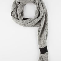Blue Crown Mini Cable Knit Mens Scarf Grey One Size For Men 26870611501