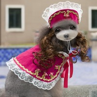 Halloween Dog Clothes Dress Up Costume Clothes For Dogs Supplies Pet Hat Dog Wig Chihuahua Clothing York Ropa Para Perros 8Z20
