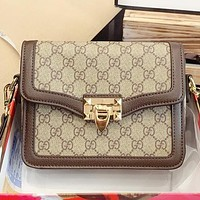 GUCCI New fashion more letter leather shoulder bag crossbody bag