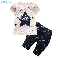 Summer Baby Boys Clothing Set Kids Clothes Toddler Boy T-Shirts Shorts Tracksuit Set Boys Clothing Sets for Kid