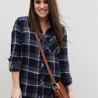 Your Best Winter Plaid {Navy}