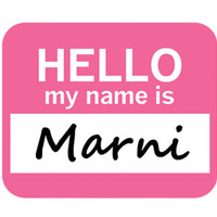 Marni Hello My Name Is Mouse Pad
