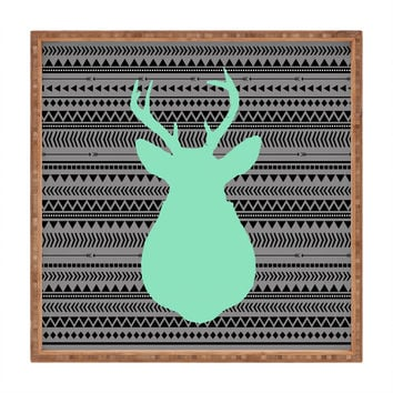Allyson Johnson Deer And Aztec Square Tray