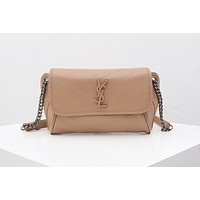 YSL SAINT LAURENT LEATHER NIKI BODY CHAIN SHOULDER BAG