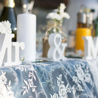 Mr Mrs Sign Wedding Sweetheart Table
