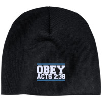 Obey Acts 2:38 - Knit Beanie