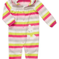 Carter's Baby Girl's Infant Long Sleeve One Piece Coverall - Stripes - 9 Months