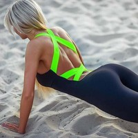 2018 Workout Clothes For Women One Piece Yoga Outfit