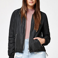 Kendall & Kylie Tie Back Bomber Jacket at PacSun.com