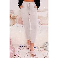 By Her Side Knit Joggers (Heather Grey)