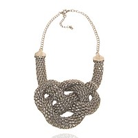 Basket Knot Chain Necklace