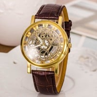 Designer's Awesome Great Deal Gift Good Price Trendy New Arrival Hot Sale Stylish Strong Character Hollow Out Men Casual Luxury Metal Watch (With Thanksgiving&Christmas Gift Box)[6543927875]
