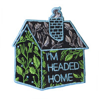 Headed Home iron-on patch