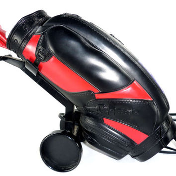 Vintage Golf Bag Phone Red and Black Collectible