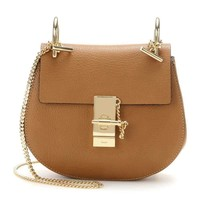 Chlo¨¦ Brown Drew Small Leather Shoulder Bag