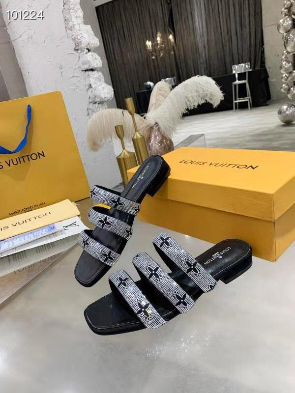 Image of Louis Vuitton LV Women's Leather High-heeled Sandals Shoes 06055