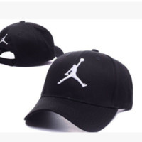 Perfect Jordan Women Men Embroidery Leisure Tourism Sunhat Baseball Cap Hat