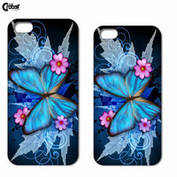 Fresh Colorful Romantic Floral Butterfly Flowers Phone Case Cover For Apple iPhone 4 4s 5c 5 5s 6 6plus Samsung S4 S5 S6 N3 N4